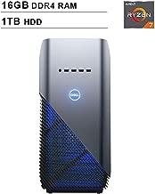 2019 Newest Dell Premium Inspiron Gaming Desktop (AMD 8-Core Ryzen 7 2700 up to 4.1GHz, 16GB DDR4 RAM, 1TB HDD, AMD Radeon RX 580 4GB, WiFi, Bluetooth, HDMI, Windows 10, Blue)