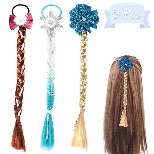 PowerKing Haarspange für Kinder, schöne kleine Mädchen und Kleinkinder Haarschleife und Bling Bunny Hair Barrettes Hairpin Bows 3 Pairs (Wig 3 Set)