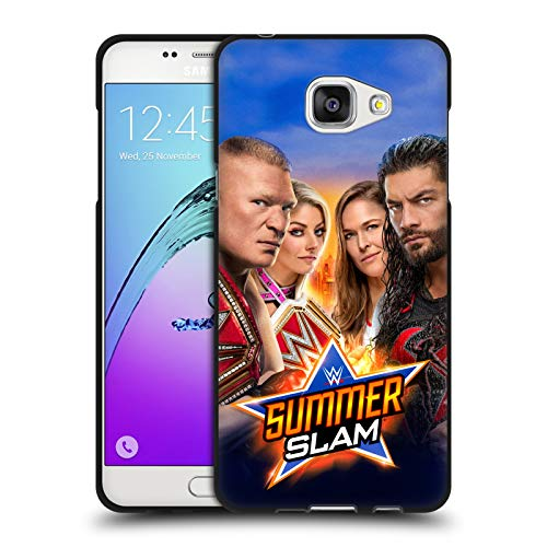 Head Case Designs Offizielle WWE Brock, Alexa, Ronda & Roman 2018 SummerSlam Schwarze Soft Gel Huelle kompatibel mit Samsung Galaxy A5 (2016)