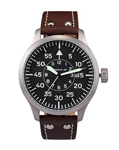 Messerschmitt me-47X L–Uhr für Männer, Lederband