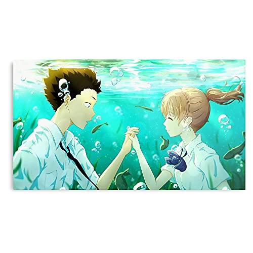 Voice Anime No Silent Katachi Koe A Manga - Prints Wall Design for Living Room Home Decor Customize - No Frame
