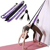 AKA Sports Gear Yoga Waist Fitness Stretching Strap(Purple)-Stretcher for Dance Back Bend Training,Waist Flexibility Assist Trainer-Leg Back Flexibility for Rehab Ballet Dance Pilates Gymnastics