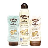 Hawaiian Tropic PACK Silk Hydration High Protection & AfterSun - Kit de Protección Solar, Incluye Loción Corporal Protectora SPF 50 + Spray Bruma Corporal SPF 50 + Crema After Sun Air Soft