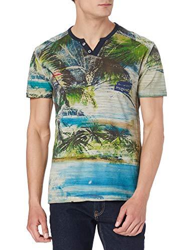 Desigual TS_CEBRIAN Camiseta, Blanco, L para Hombre