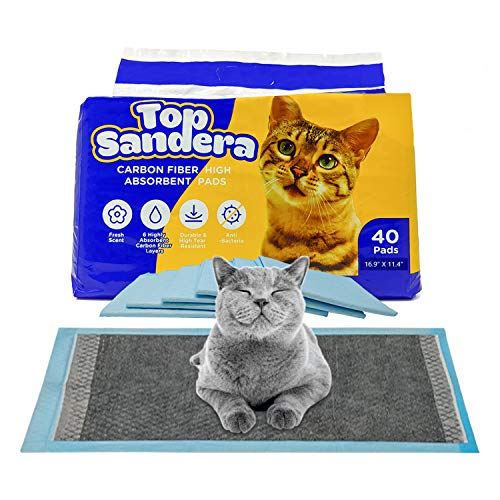 High Moisture Absorbent Pee Pads Pack of 40 Cat Litter Pads...