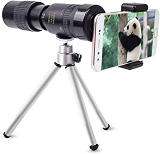 30x30 HD Monocular Telescope, Waterproof Compact Portable Telescope Equipped with Smartphone Adapter & Tripod, Used for Hi...