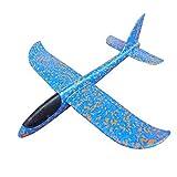 MAKFORT Avion Planeurs Enfant - Vol Libre - Lancé Main - Toys D'Aéronautique Cadeau Anniversaire Garçon Bleu