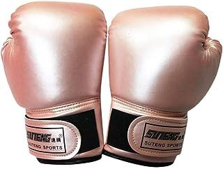 CLISPEED 1 par de luvas infantis de boxe com brilho perolado, luvas de Muay Thai, luvas esportivas, saco de areia, acessór...