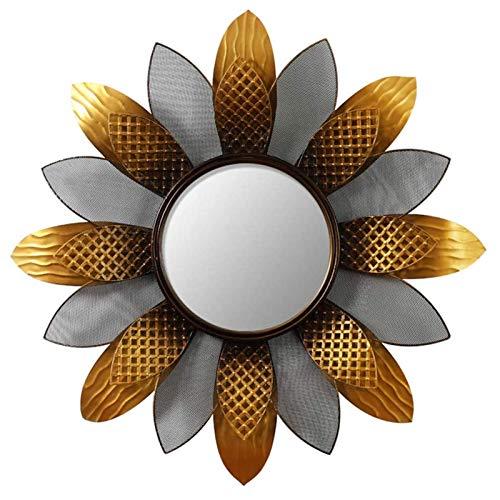 ZHYLOVE Espejo Decorativo de la Pared de Sunburst, Espejo de Pared Redondo Grande de Metal, Comedor, Sala de Estar, Espejo Decorativo suspendido en el pórtico de,70cm