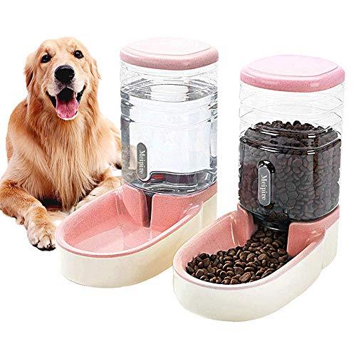 Meipire Pets - Comedero automático de 3,8 L, alimentador de Alimentos y dispensador de Agua para Perros pequeños y Grandes, Gatos y Mascotas Animales