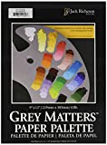 Jack Richeson Grey Matters Paper Palette (50 Sheets), 9' x 12' Paper for Paint Mixing