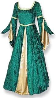 green velvet medieval gown