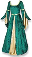 Artemisia Designs Renaissance Medieval Gown with Satin Panel Insert and Ribbon Accents
