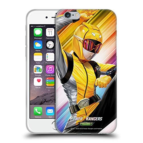 Head Case Designs sous Licence Officielle Power Rangers Beast Morphers Ranger Jaune Personnages Coque en Gel Doux Compatible avec Apple iPhone 6 / iPhone 6s