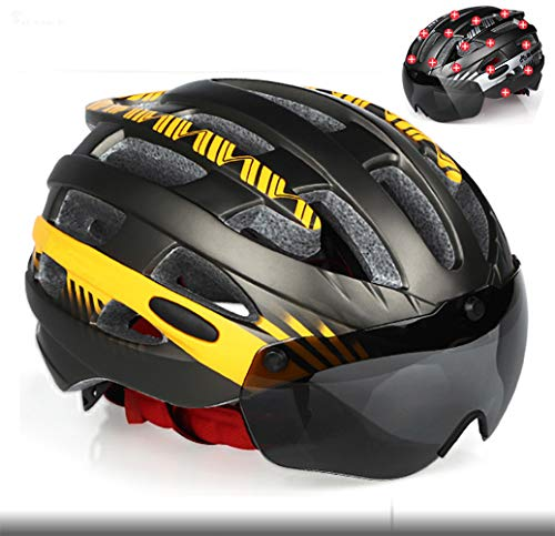 Grist CC Casco Bici da Ciclismo, con Occhiali magnetici Staccabili Casco da Bicicletta Ciclismo da Strada Montagna Protezione Regolabile e 25 Buco Traspirante Rosa