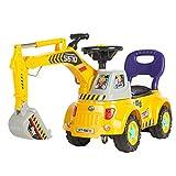 Best Choice Products Kids Excavator Ride-On Truck with Garden Set, Music, Lights, Storage, Yellow