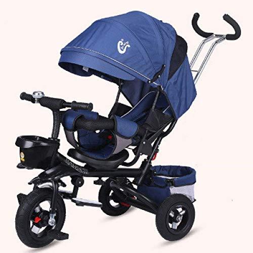 KDMB Bicicletta pieghevole Biciclette per Bambini Ammortizzatore Passeggino per Bambini Sedile ribaltabile per Triciclo Reclinabile Bicicletta per Bambini Bicicletta pieghevole 1-3-5 Anni