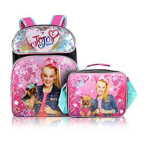 KBNL Jojo Siwa Backpack + 3D Lunch Box Back to School Bundle