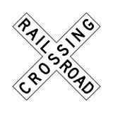 Railroad Crossing Crossbuck Sign - 30 x 6 Novelty Road Sign. A Real Sign. 10 Year 3M Warranty