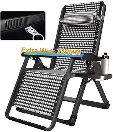 Tumbona, sillones clásicos Tumbona/Tumbona de Gravedad Cero, césped de Playa al Aire Libre, Camping, sillas reclinables de Gran tamaño, sillón portátil con Bloqueo para el hogar, 200 kg