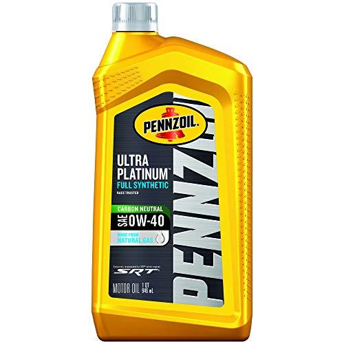 Pennzoil Ultra Platinum Full Synthetic 0W-40 Motor Oil (1 Quart, Case of 6) (550040856-6PK)
