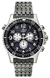 Xezo Air Commando Mens Swiss Made Serialized Vintage Style Pilots Chronograph Watch, 20 ATM, 2nd Time Zone. Day, Date