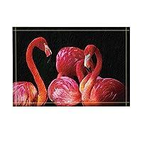 Assanu 鳥の装飾フラミンゴ恋に落ちるパターンを飾る部屋を飾る家庭用家具出入口ようこそ浴室へ浴室リビングルームきれいにきれいなカーペット
