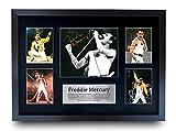 HWC Trading A3 FR Cadeaux Freddie Mercury Reine Image Imprimée D'Autographes pour La Musique Souvenirs Fans Signés - A3 Encadrée