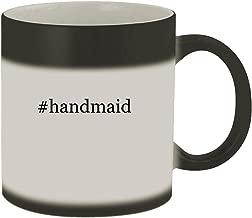 #handmaid - Ceramic Hashtag Matte Black Color Changing Mug, Matte Black
