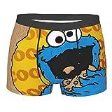 Coo-Kie Monster Mens Breathable Boxer Briefs Comfort Stretch Shorts Underwear Black