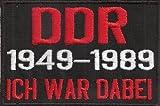 DDR 1949-1989, ICH war Dabei, Rocker, Punk Biker Patch Aufnäher Abzeichen