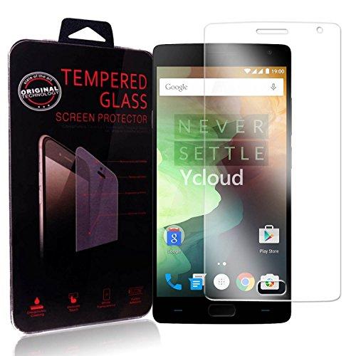 Ycloud Panzerglas Folie Schutzfolie Bildschirmschutzfolie für OnePlus Two/OnePlus 2 Screen Protector mit Festigkeitgrad 9H, 0,26mm Ultra-Dünn, Abger&ete Kanten