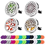 7. 4 Pack Car Essential Oil Diffuser Vent Clip, Stainless Steel Locket 44 Felt Pads