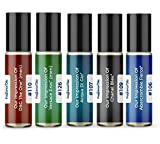 Men's Top 5 Cologne Impressions 2021 (Generic Versions of Designer Fragrance) Sampler Gift Set of 5 10.35ml Roll-ons