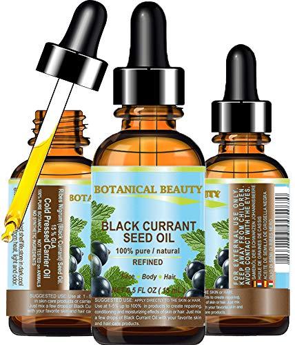 Olio di semi di ribes nero 100% Puro / Naturale / Non diluito / Raffinato Pressato A Freddo olio carrier base15 ml. Per la cura di Pelle, Capelli, Labbra E...