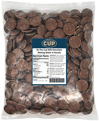 By The Cup Milk Chocolate Wafer Candy Melts 5 Pound Bag for Chocolate Fountain, Fondue Sets, Molds and More