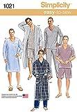 Simplicity Creative Patterns US1021A Mens Classic Pajamas and Robe, Size A (XS-S-M-L-XL) mens pajamas Oct, 2020