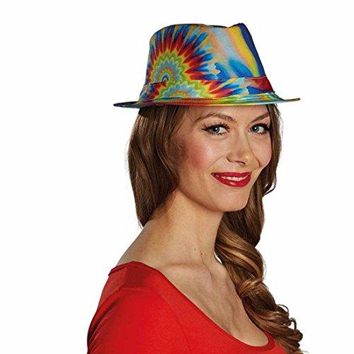 Amakando Fedora Flower Power Sombrero Hippie Colorido Gorra ...