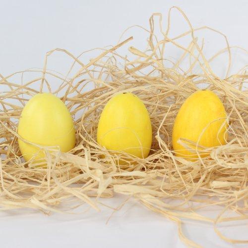 Uovo di Pasqua, vera soffiato oche uova per Oster nido Pasqua, Box,{12} assortiti in diverse tonalità colori{3}, giallo