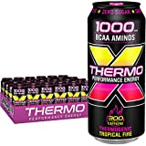 Rockstar Thermogenic Tropical Fire Energy Drink, Caffeine, 0 calories, Green Tea Extract, 16 oz cans, 24 Count