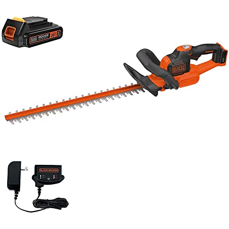 BLACK+DECKER 20V MAX Cordless Hedge Trimmer with Power Command Powercut, 22-Inch (LHT321FF)