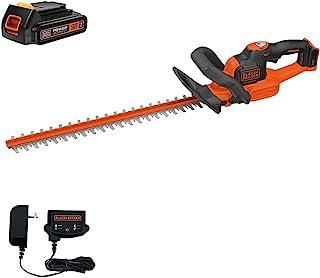 "Black+Decker - Motosierra inalámbrica para cortar arbustos (20 V, con PowerCommand), Kit de cortapelos de 20 V., 22"", Cortasetos de 20 V."