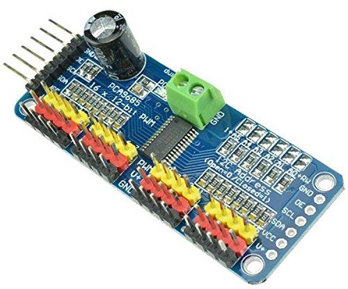 Daorier Pca9685 16 Canaux Channel 12 Bits PWM Moteur Pilote Interface IIC I2 C Module pour Arduino Robot,1 Pcs