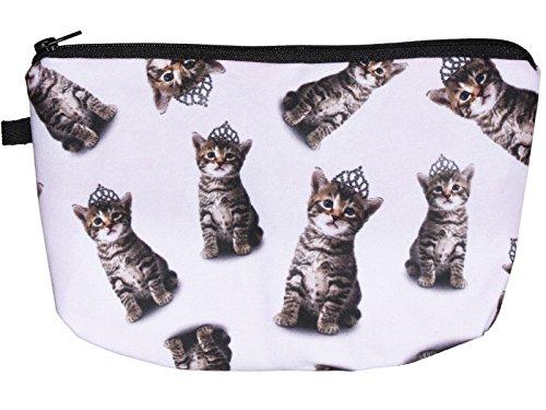 scarlet health | Kosmetiktasche »Beauty« für die Handtasche und als Kulturbeutel auf Reise; kleine, kompakte Schminktasche für Make-Up etc. (Katzen)