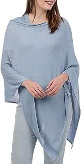 Solid Knit Asymmetric Wrap Fashion Bamboo Poncho Topper