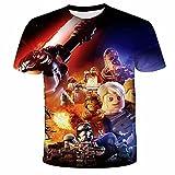 Camiseta Star Wars Personajes de dibujos animados Stormtrooper Yoda Casual cuello redondo Camisetas de manga corta para hombres y mujeres niño, N6., L