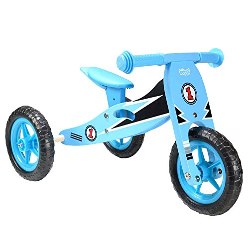 boppi Wooden Trike Blue Racer - 9 - 24 Months (97) Blu
