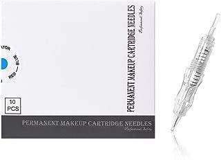 Agujas de cartucho BIOMASER® Tattoo Needle Hilo de rosca esterilizado Maquillaje permanente Agujas de cartuchos para máquina de maquillaje permanente Tattoo Pen 10PCS (7MG)