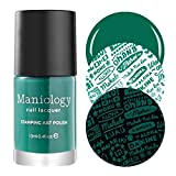 Maniology Emerald Green Colored Creative Art Stamping Polish Set - Mythos Collection, Tree of Life