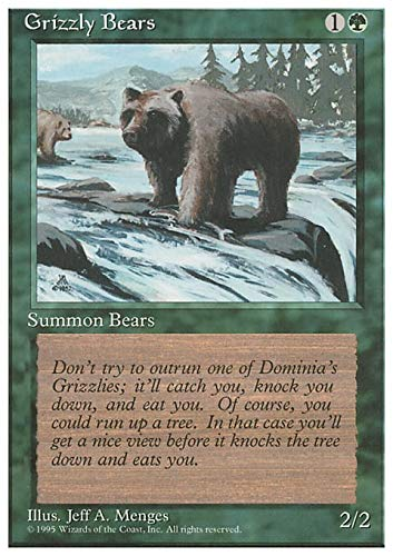Magic The Gathering - Grizzly Bears - Fourth Edition